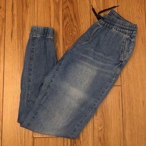 Jean joggers/ leggings